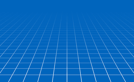 Fading and vanishing grid, mesh 3d abstract background Иллюстрация