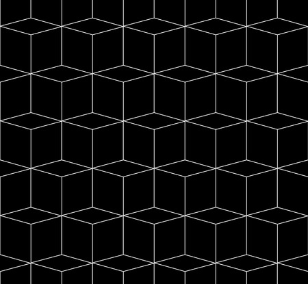 spatial: 3D cubes spatial seamlessly repeatable monochrome pattern