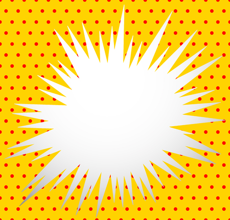 Edgy blank explosion shape isolated. Abstract vector element. Vector Illustration