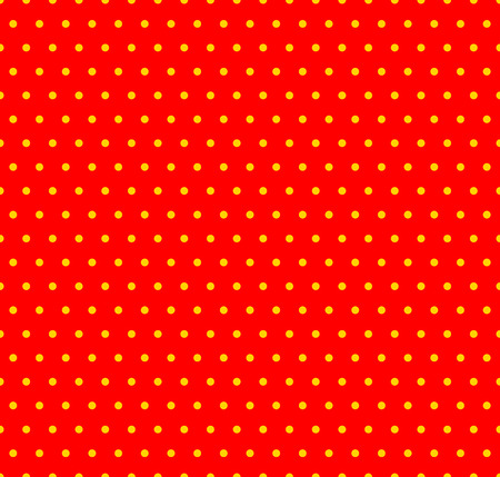 warhol: Dotted yellow and red pop art pattern. Seamlessly repeatable background with circles. Illustration