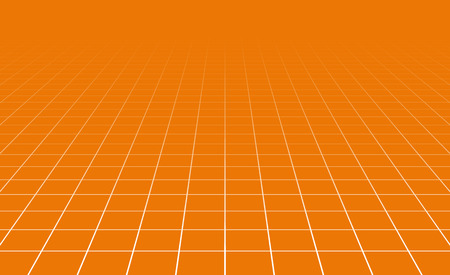 perpective: Fading and vanishing grid, mesh 3d abstract background Illustration