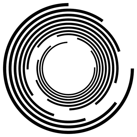 centric: Abstract spiral, swirl, twirl element. Editable vector graphic.
