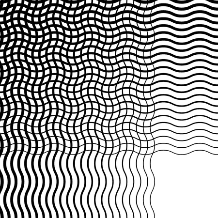 abstractionism: Intersecting wavy lines pattern  texture. Editable vector art.