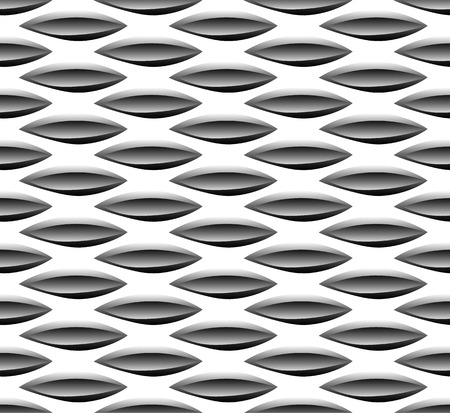 repeatable texture: Abstract seamless background  pattern with staggered leaf, almond shapes. Monochrome repeatable vector texture.