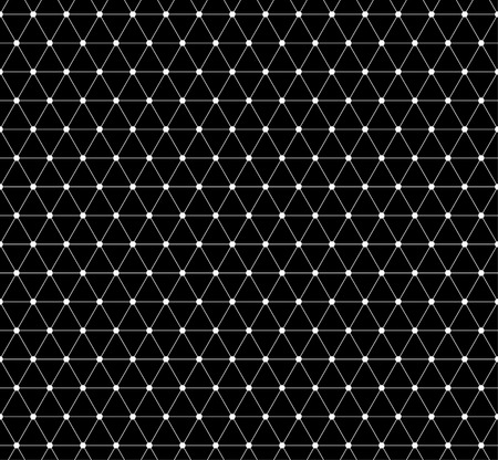 grillage: Abstract grid, mesh pattern with nodes. Seamlessly repeatable abstract monochrome vector texture.