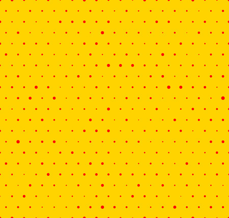 Dotted yellow and red pop art pattern. Seamlessly repeatable background with circles. 向量圖像