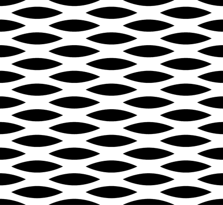 staggered: Abstract seamless background  pattern with staggered leaf, almond shapes. Monochrome repeatable vector texture.