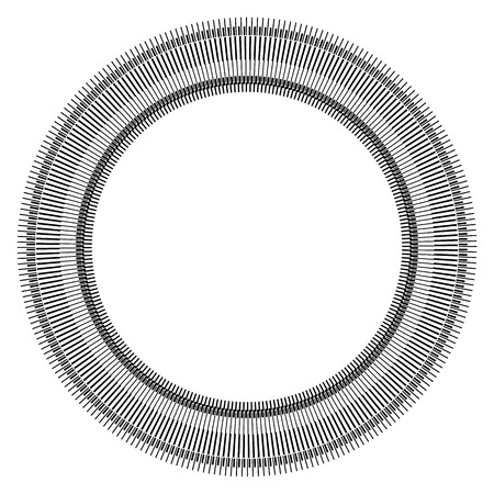 circles: Abstract circle element with geometric lines on white