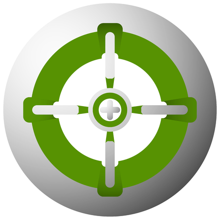 reticle: Target mark, cross-hair, reticle isolated on white. Vector graphic