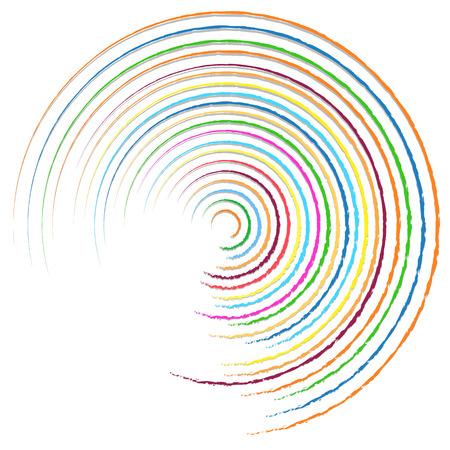random: Random colorful circular, concentric lines abstract element