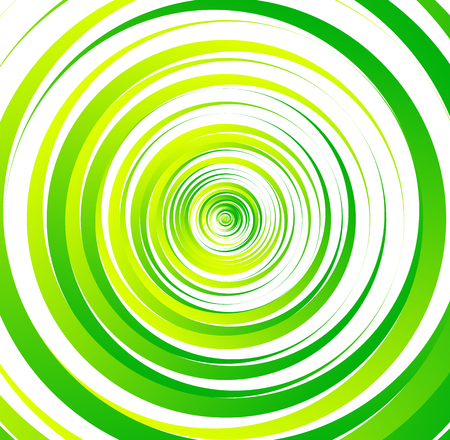 Spiral element, concentric circles with brush strokes Illustration