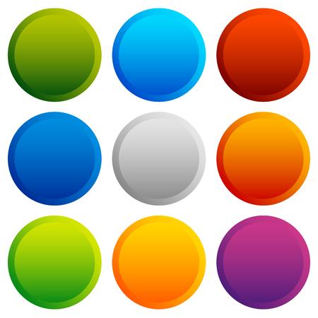 カラフルなボタン、バッジ背景空白部分。ベクトル