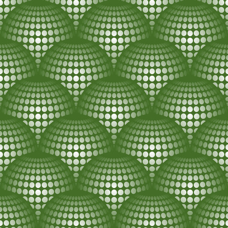 protuberant: Geometric abstract pattern with 3d spherical distortion on mesh of circles
