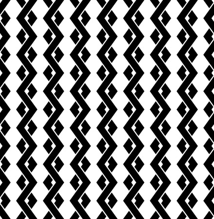 Interweave, braided lines seamless abstract monochrome patter Illustration