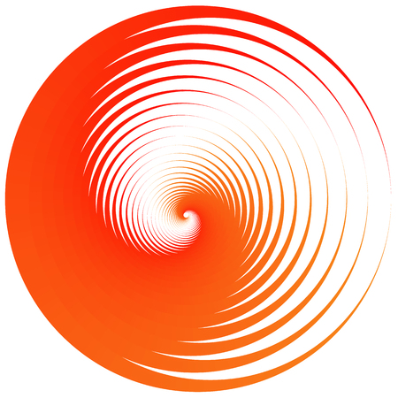 concentric: Abstract graphic element with concentric, radial circles