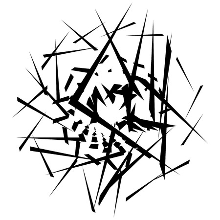 scattered: Abstract monochrome graphic with scattered, random shapes