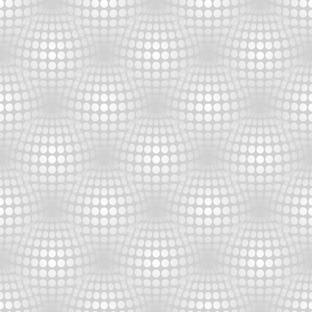 distortion: Geometric abstract pattern with 3d spherical distortion on mesh of circles