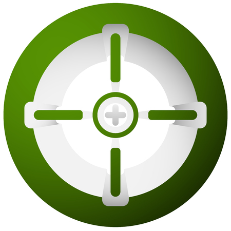 hair pins: Target mark, cross-hair, reticle isolated on white. Vector graphic