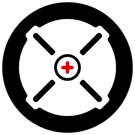 reticule: Target mark, cross-hair, reticle isolated on white. Vector graphic