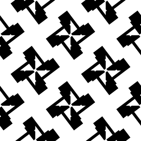 repeatable: Seamlessly repeatable abstract geometric pattern, background. Editable vector. Illustration