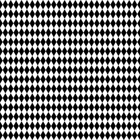 revetment: Monochrome repeatable pattern with rhombus, squares shapes. Illustration
