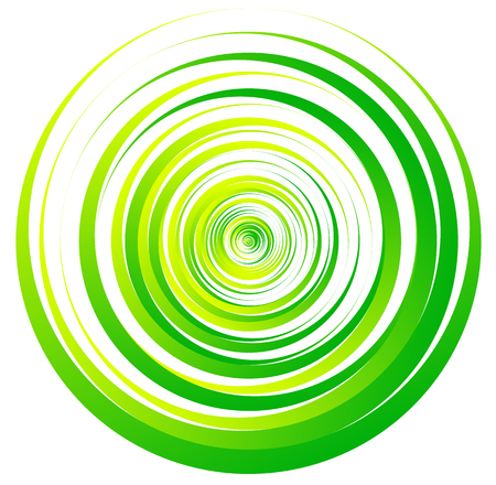 gyration: Spiral element, concentric circles with brush strokes Illustration