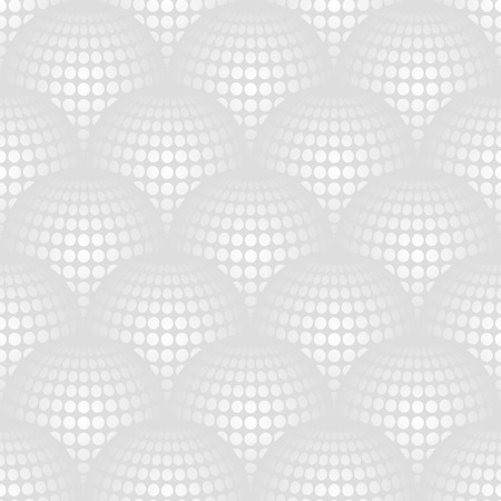 globular: Geometric abstract pattern with 3d spherical distortion on mesh of circles
