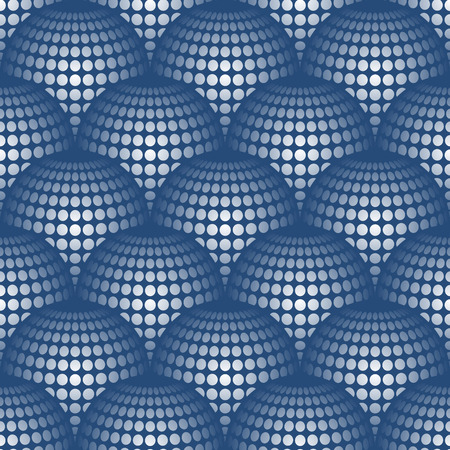 salient: Geometric abstract pattern with 3d spherical distortion on mesh of circles