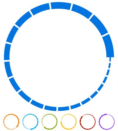 Preloader, buffer symbol elements, circular progress indicators