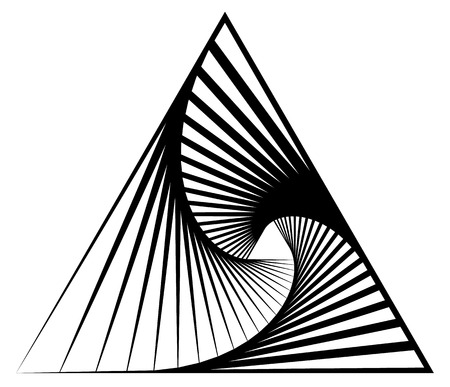 twist: Abstract shape with vortex, rotation effect inwards