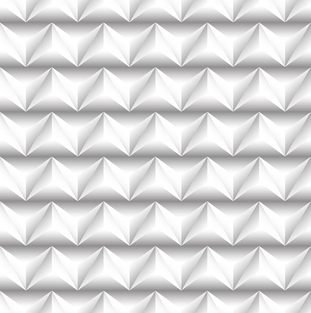 protuberant: 3d seamless pattern with alternating embossed triangles