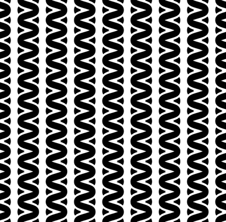 tress: Interweave, braided lines seamless abstract monochrome patter Illustration