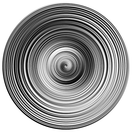 gyration: Concentric rings, circles pattern abstract monochrome element on white