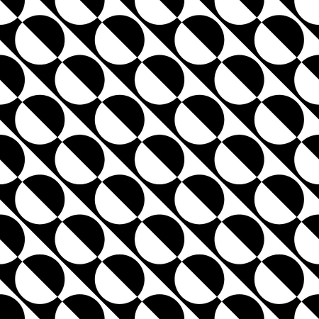 semicircle: Abstract monochrome pattern with circle shapes. Geometric repeatable background.