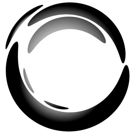 blob: Abstract circular blob element with gradient fill Illustration