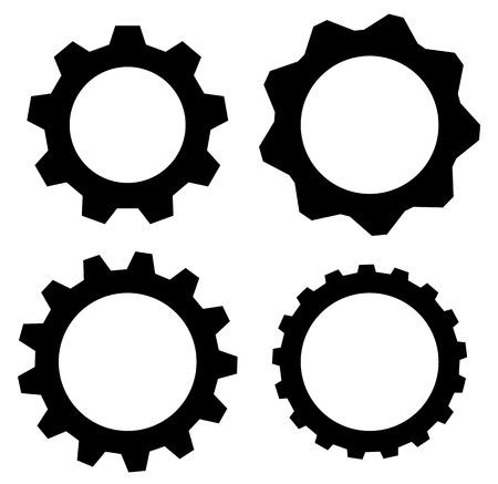rackwheel: Gearwheel, cogwheel, gear shapes. mechanics, industry or production, development concepts