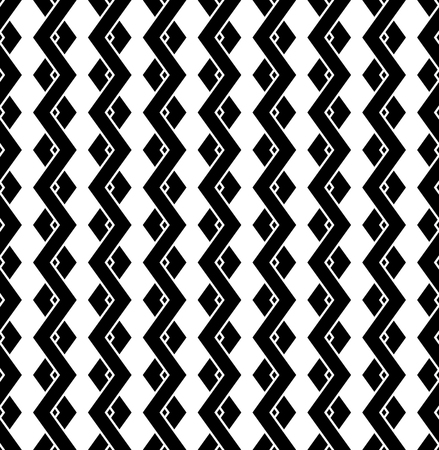 interconnected: Interweave, braided lines seamless abstract monochrome patter Illustration
