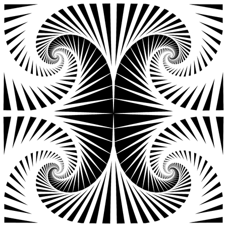 tileable: Abstract pattern with mirrored tiles of rotating squares. Seamlessly repeatable. Illustration