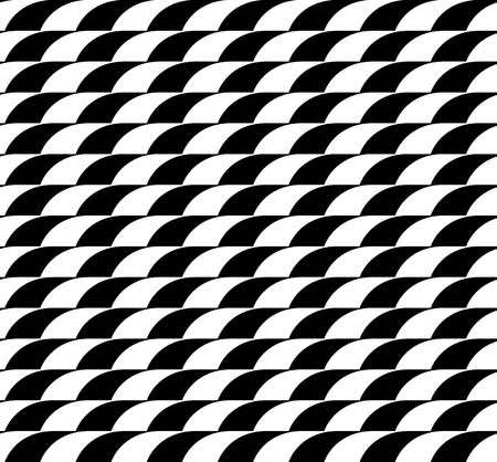 overlapping: Seamless monochrome pattern with overlapping circle shapes