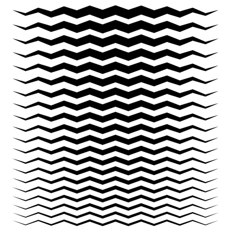 undulating: Wavy, zigzag lines from thick to thin graphic elements
