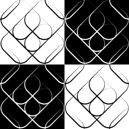 grating: Squares abstract repeatable geometric pattern. monochrome background
