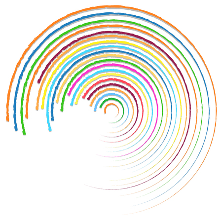 centric: Random colorful circular, concentric lines abstract element
