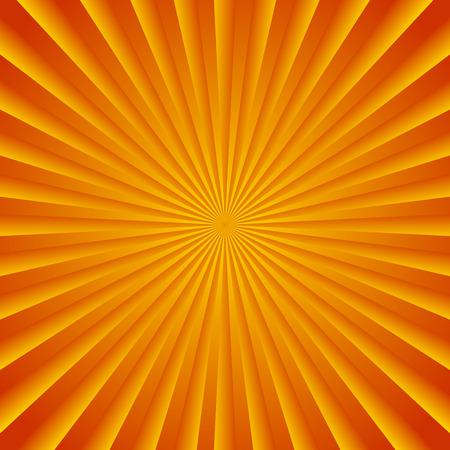summer heat: Colorful starburst, sunburst background. Radiating, converging lines. Glowing pattern, backdrop.