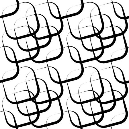 grillage: Squares abstract repeatable geometric pattern. monochrome background