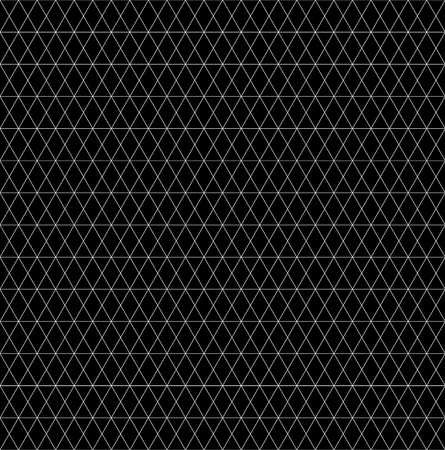 Grid, mesh abstracte zwart-wit naadloze patroon, textuur