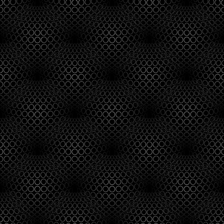 protruding: Geometric abstract pattern with 3d spherical distortion on mesh of circles