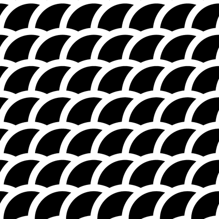 intersecting: Intersecting circles abstract monochrome Repeatable pattern.