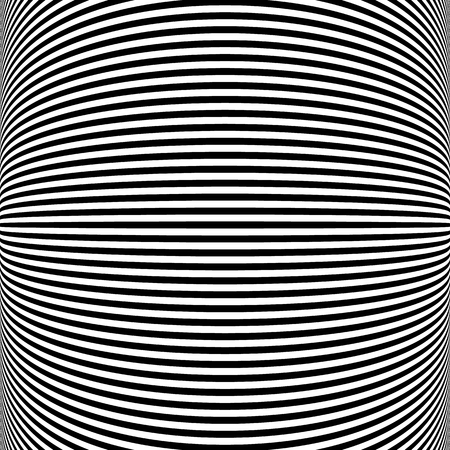 camber: Abstract pattern with distorted lines. Monochrome geometric illustration. Illustration
