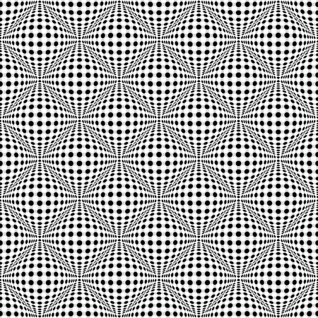 camber: Seamless 3d dotted pattern with bulging distortion effect
