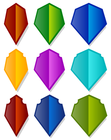 sheild: Set of various shield shapes. Thin, thick and beveled versions.